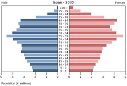 Japan. which has the worst gender inequality in the developed world, also has a fertility rate of 1.42 (which actually looks pretty good compared to Singapore at 0.8.) This is what their age structure will look like in 15 years.  So, keeping the women down has not helped them.