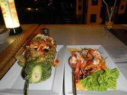 Pineapple Rice and Tiger Prawns