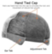 hand tied wig cap