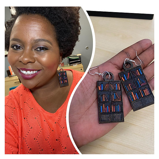 Hand-Painted Book Case Earrings