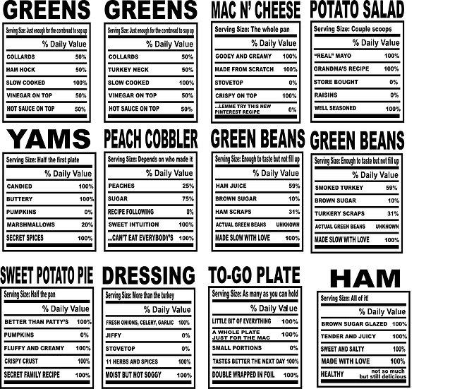 Soul Food Thanksgiving BUNDLE (PNG & SVG)