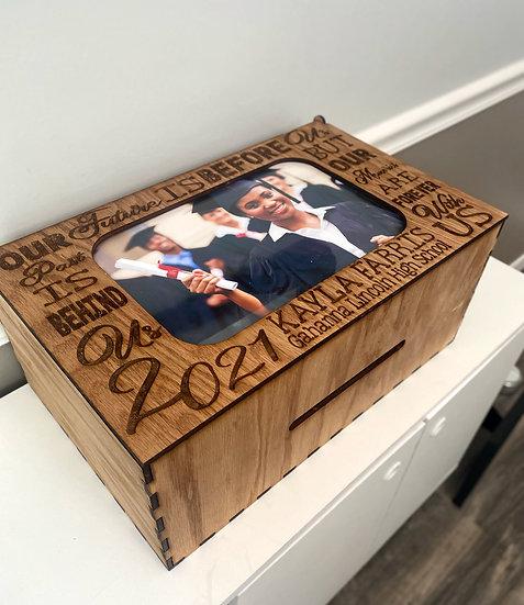 Wood Graduation Card Box