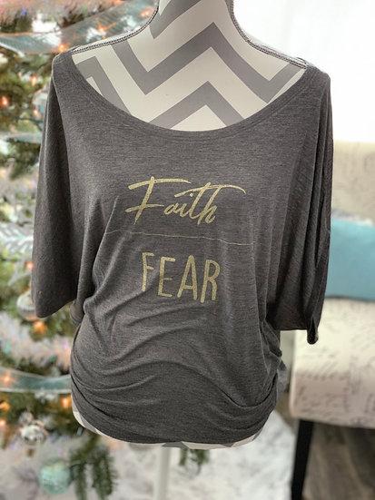 Faith over Fear Flowy Tee