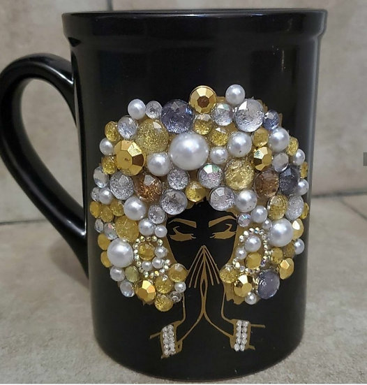 Afro Jewled Coffee Mug