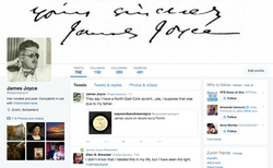 James Joyce Twitter Page