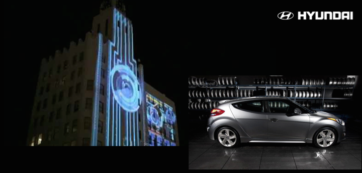 Hyundai Veloster 3D Projection (LA)