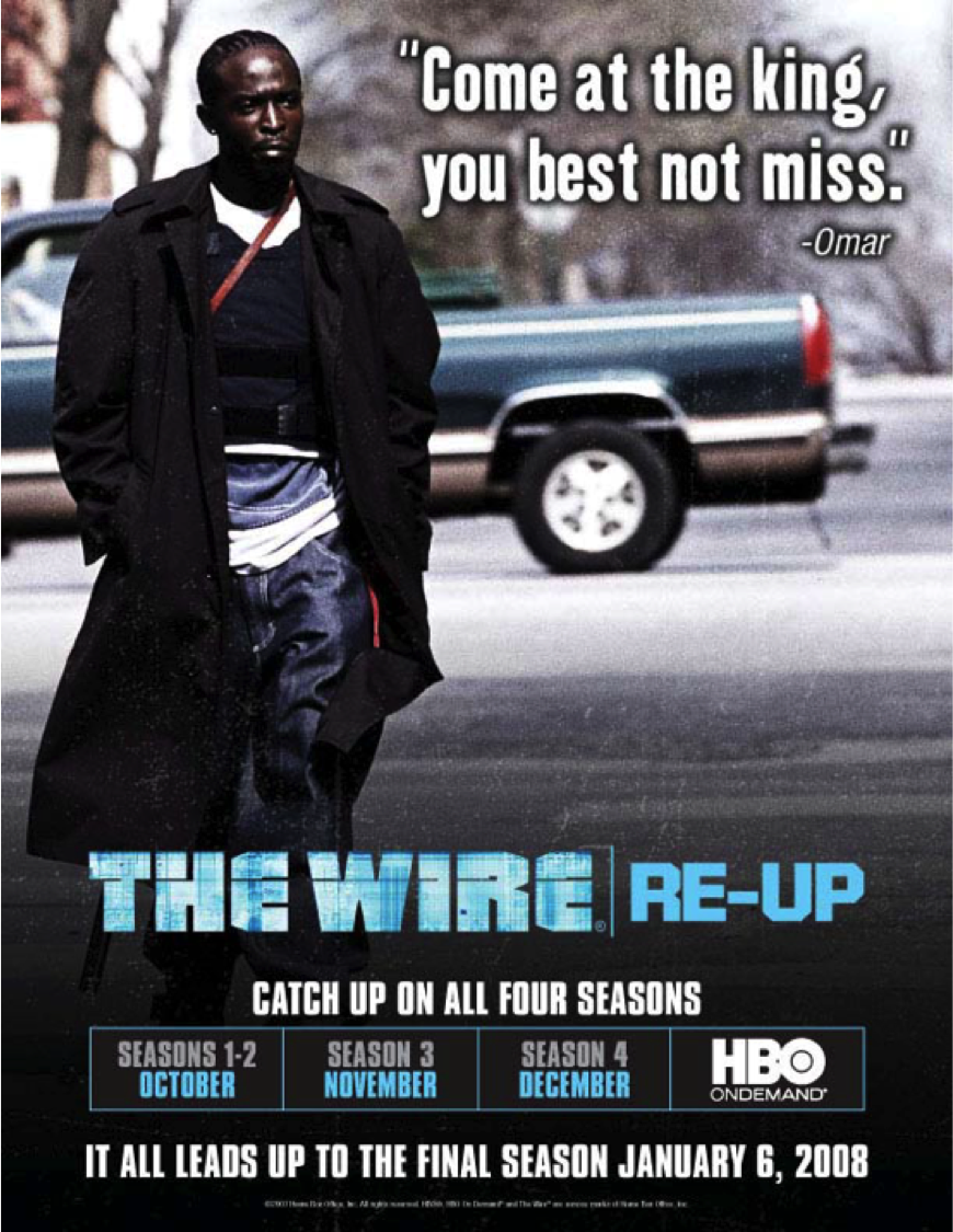 HBO on Demand The Wire Key Art