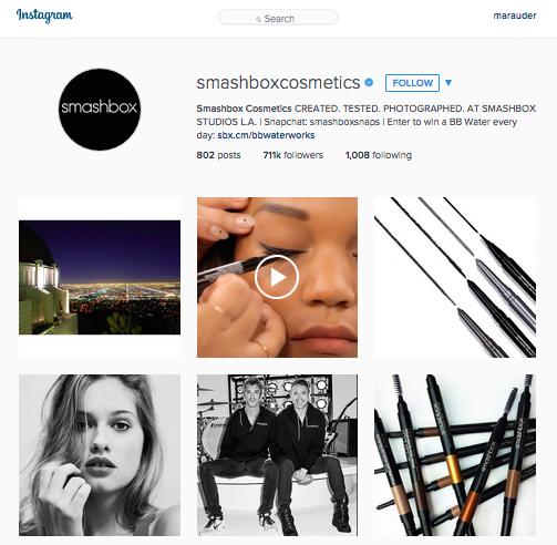 Smashbox Cosmetics Instagram