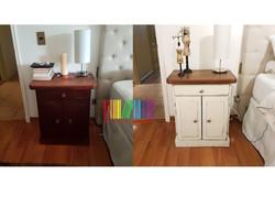 velador antes y después