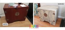 mueble antes y después