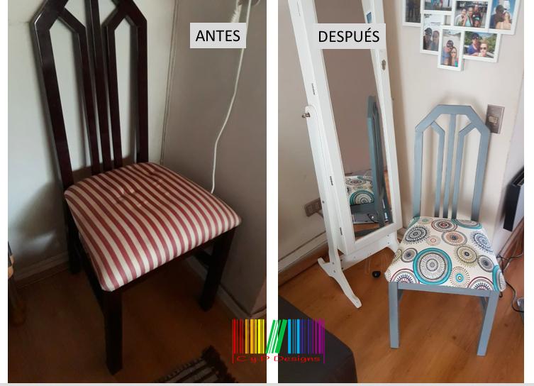 silla antes y después