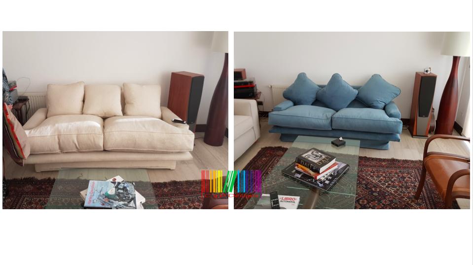 sillón antes y después