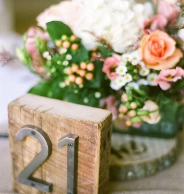 Rustic Wood Table Numbers