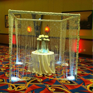 Crystal Chuppah with Sweetheart Table