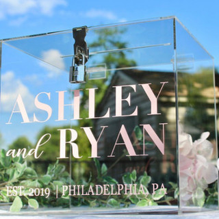 Clear Card Box with Monogram Rental