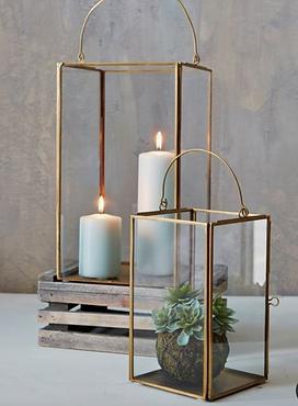 Gold Simplicity Lanterns