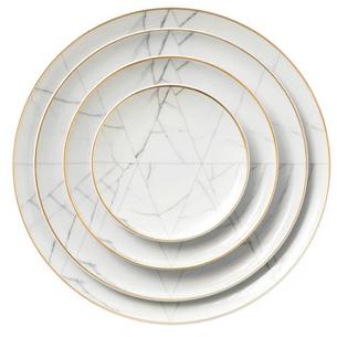 Marble Design Dinnerware Rental