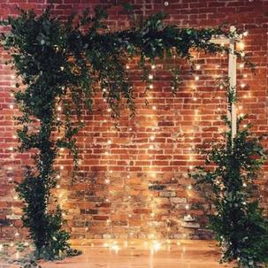Greenery and String Light Arbor RENTAL