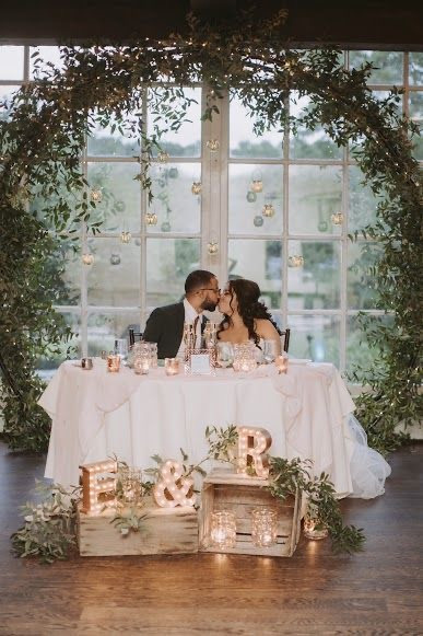 GREENERY COVERED WEDDING RING ARCH