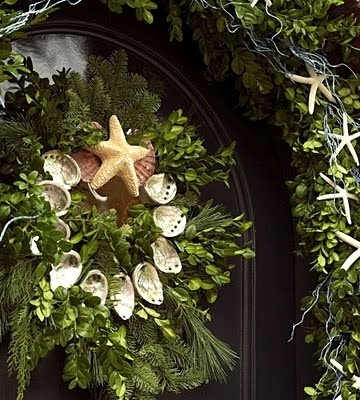 natural beach wreath xmas $75