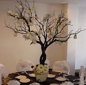 Dark Wish Tree Centerpieces
