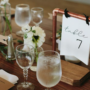 Rose Gold Copper Table Numbers Industria