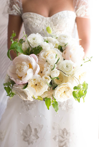 White Bridal Peony Bouquet