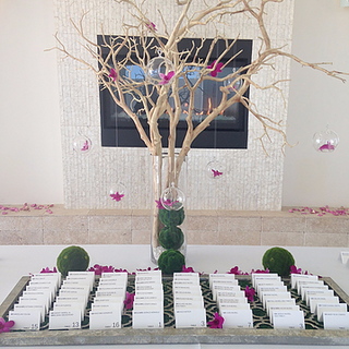 Wish Tree with Floating Flowers