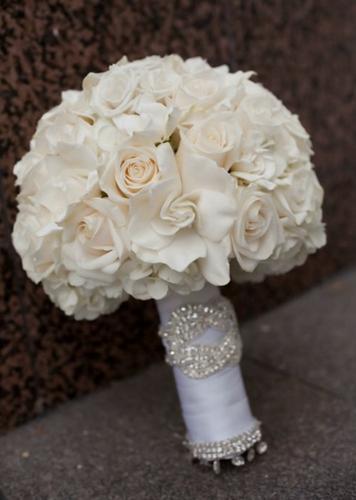 Bridal bouquet white gardenias