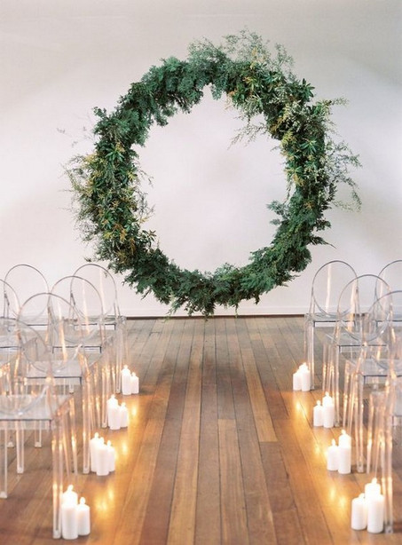 circle arbor wedding ring arch