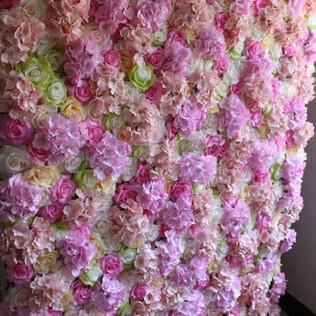 Mauve Rose Flower Wall