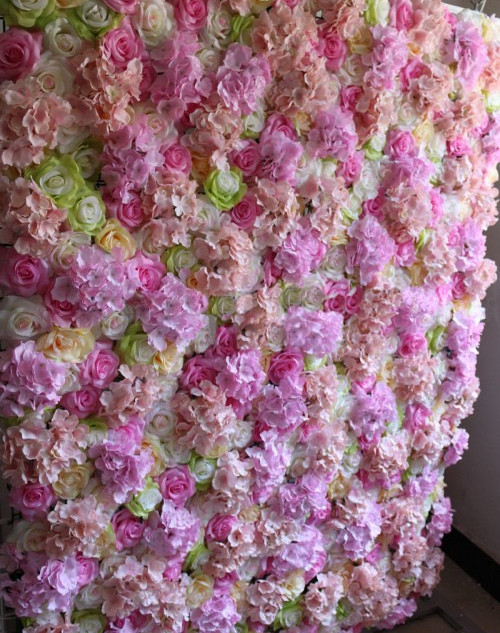 Mauve Rose Flower Wall
