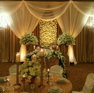 Flower Wall Draping Backdrop