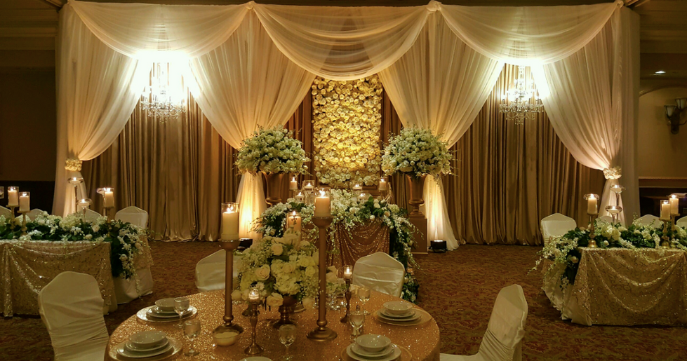 Flower Walls and Draping Wall