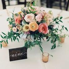 Garden Rose Centerpieces