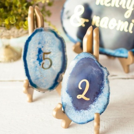 Blue Geode Table Numbers