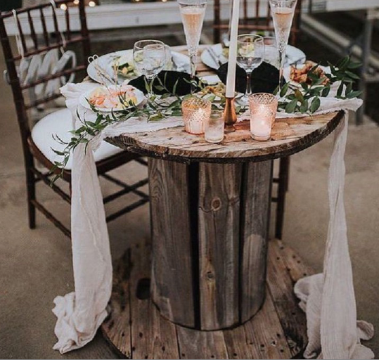 Rustic Bobbin Table for two
