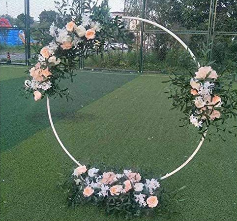 White Circle Ring Arbor Arch Backdrop RE