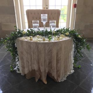 Aldrich Mansion Sweetheart Table Garland