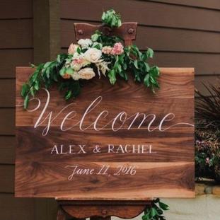 Customized Wood Wedding Sign