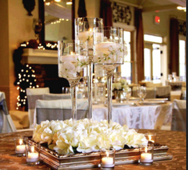 Tall Floating Candle Holders with Stems