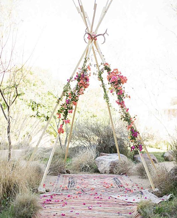 Romantic Boho Teepee RENTAL