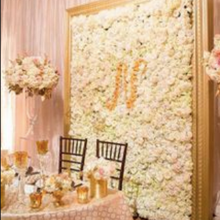 Framed Flower Wall Rental