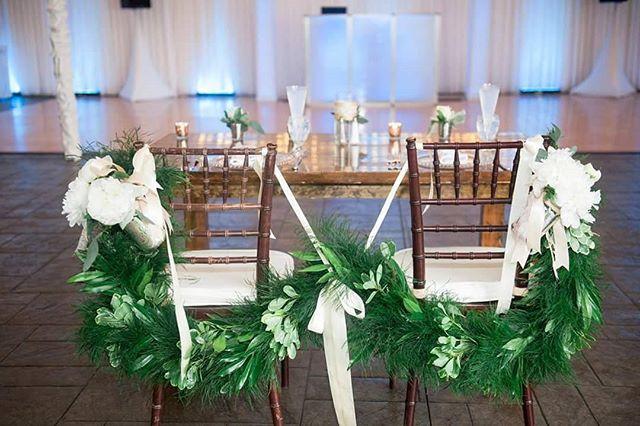 Garland sweetheart table