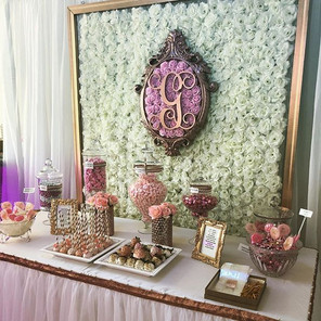 Candy Station Flower Wall Backdrop