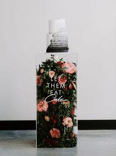 Cake Pillar Clear Acrylic Rental