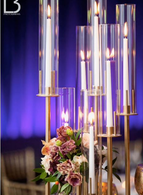 Modern Taper Candle Stand & Uplighting R