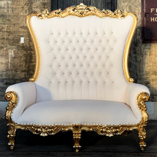 Gold Throne Cuddle Bench King and Queen