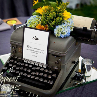 Vintage Typewriter Centerpiece Prop RENTAL