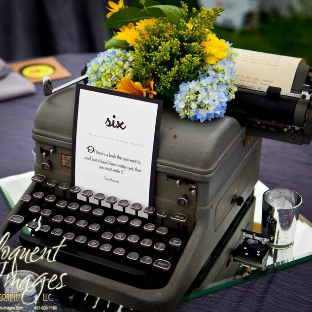 Vintage Typewriter Centerpiece Prop RENTAL